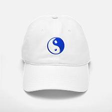 Blue Yin Yang Baseball Baseball Cap