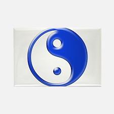 Blue Yin Yang Rectangle Magnet