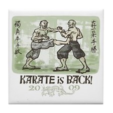 Karate's Back Tile Coaster