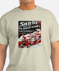 Santa And The Ice Cream Bunny, T-Shirt