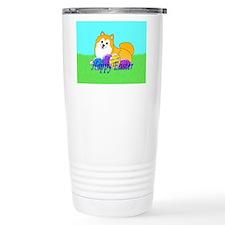 Particolor Pomeranian Travel Mug