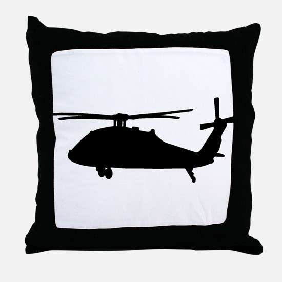 Cute Army aviation blackhawk Throw Pillow