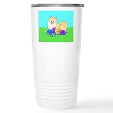 Cream Pomeranian Travel Mug
