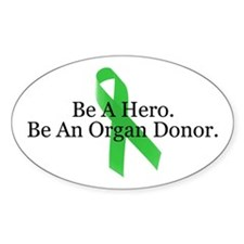 Bold Organ Donor Oval Decal