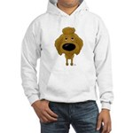 Big Nose Poodle Hooded Sweatshirt