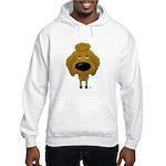 Big Nose Poodle Hooded Sweatshirt