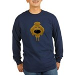 Big Nose Poodle Long Sleeve Dark T-Shirt