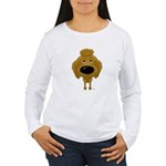 Big Nose Poodle Women's Long Sleeve T-Shirt