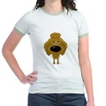 Big Nose Poodle Jr. Ringer T-Shirt