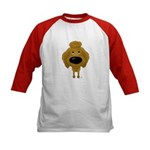 Big Nose Poodle Kids Baseball Jersey