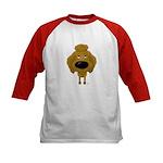 Big Nose Poodle Kids Baseball Jersey
