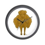 Big Butt Poodle Wall Clock