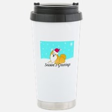 Particolor Pomeranian Stainless Steel Travel Mug
