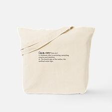 Cancer Definition Tote Bag