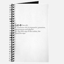 Leo Definition Journal