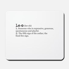 Leo Definition Mousepad
