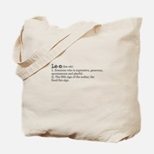 Leo Definition Tote Bag