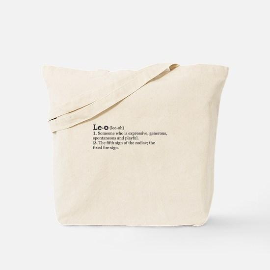 Leo Definition Tote Bag