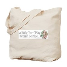 Fore Play Golfer chick Tote Bag
