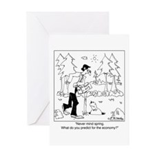 The Groundhog & The Economy Greeting Card