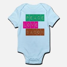 Peace Love and Bacon Infant Bodysuit
