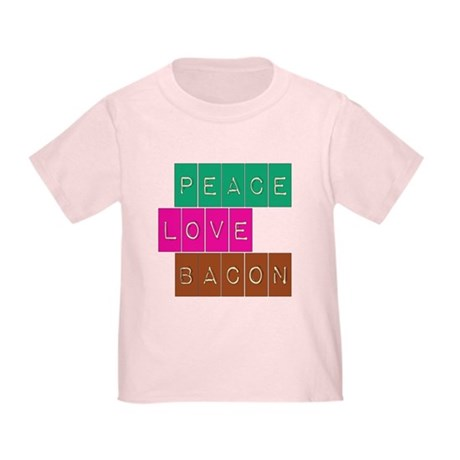 Peace Love and Bacon Toddler T-Shirt
