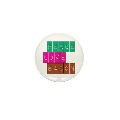 Peace Love and Bacon Mini Button