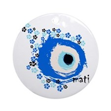MATI-GREEK EYE Ornament (Round)