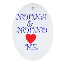 NOUNA AND NOUNO LOVE ME Oval Ornament
