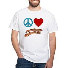 Peace Love Bacon Symbology Shirt