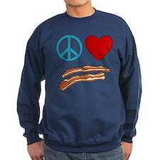Peace Love Bacon Symbology Sweatshirt