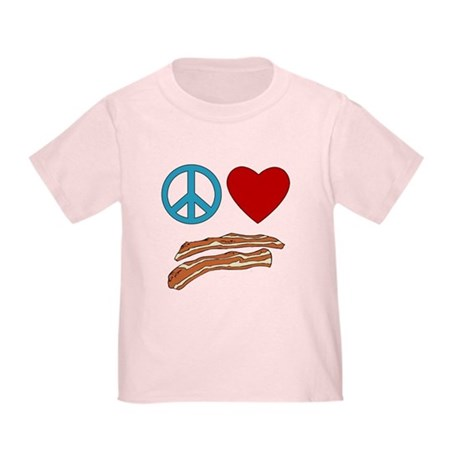 Peace Love Bacon Symbology Toddler T-Shirt