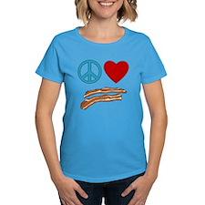 Peace Love Bacon Symbology Tee