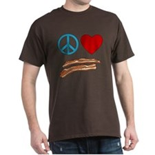 Peace Love Bacon Symbology T-Shirt