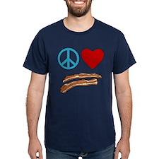 Peace Love Bacon Symbology T-Shirt
