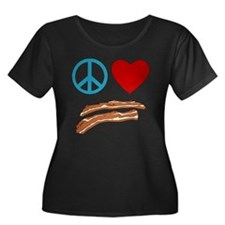 Peace Love Bacon Symbology T