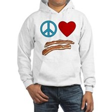 Peace Love Bacon Symbology Hoodie