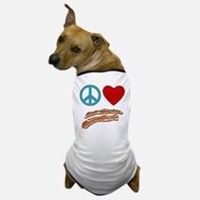 Peace Love Bacon Symbology Dog T-Shirt