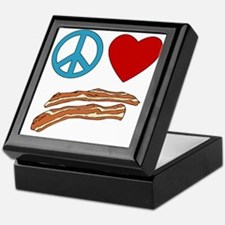 Peace Love Bacon Symbology Keepsake Box
