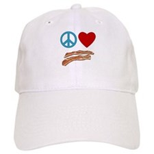 Peace Love Bacon Symbology Baseball Cap