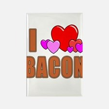 I Love Bacon Rectangle Magnet