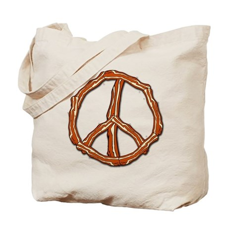 Bacon Peace Sign Tote Bag