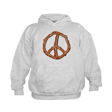 Bacon Peace Sign Kids Hoodie