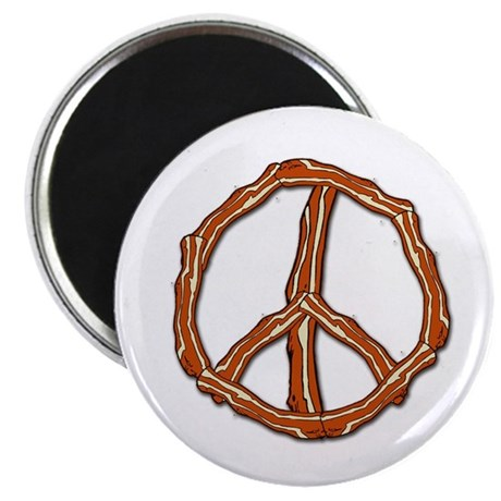 Bacon Peace Sign Magnet