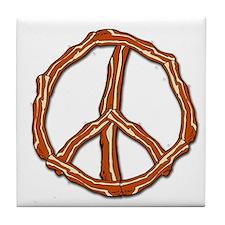 Bacon Peace Sign Tile Coaster