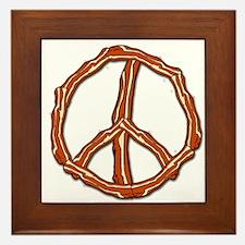 Bacon Peace Sign Framed Tile
