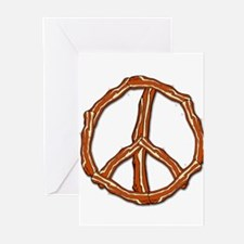 Bacon Peace Sign Greeting Cards (Pk of 10)