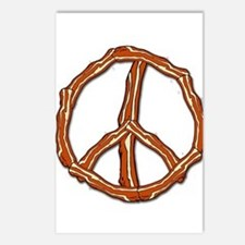 Bacon Peace Sign Postcards (Package of 8)