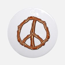 Bacon Peace Sign Ornament (Round)