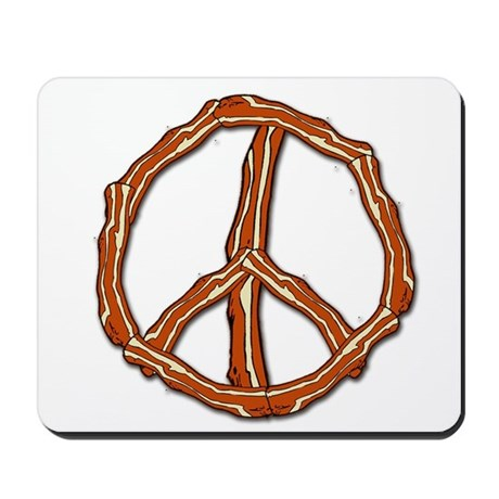 Bacon Peace Sign Mousepad